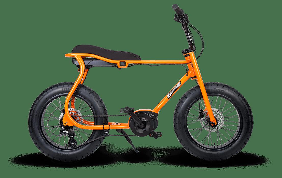 Ruff Cycles Retro Fat Bike Electrique Moteur Pedalier Bosch Lil'Buddy 500Wh Orange