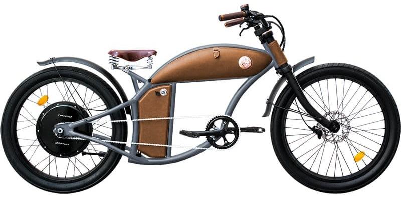 Fatbike Electrique Chopper 45km/h Speed Bike Rayvolt Cruzer Gris L 550Wh