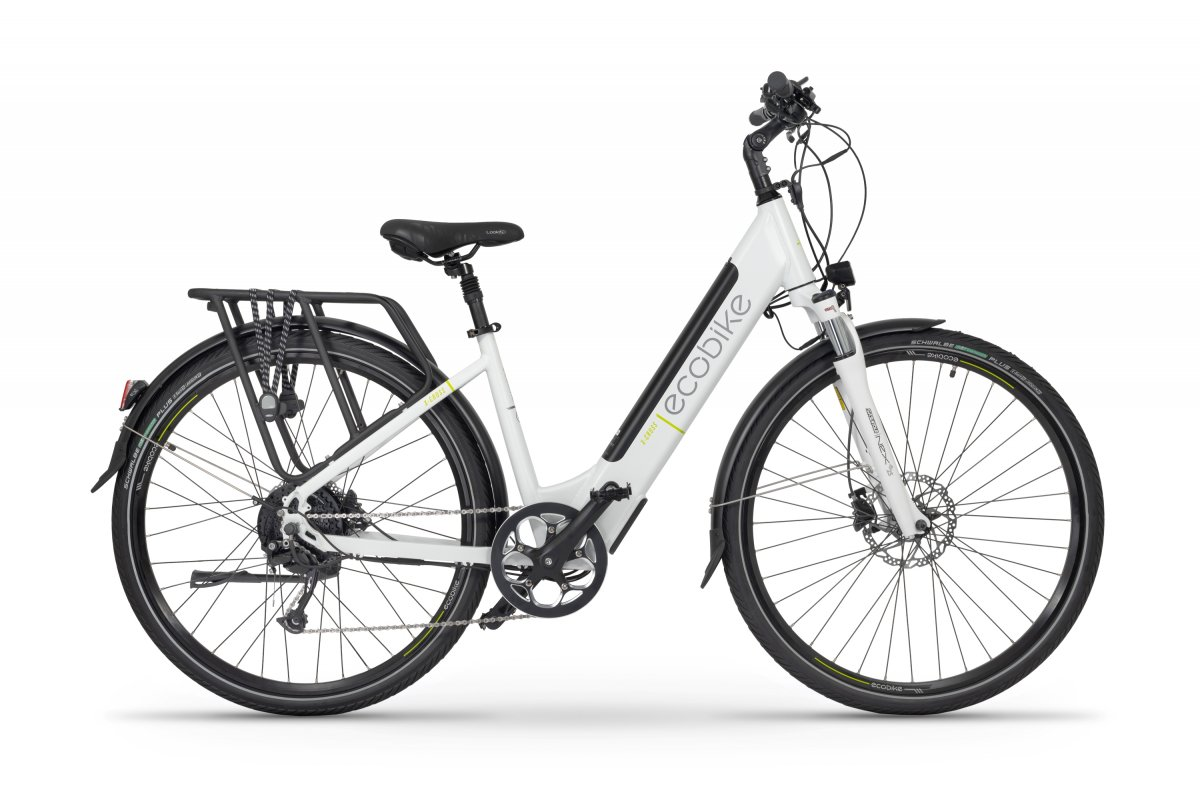 Velo Electrique Femme 28 Pouces Ecobike X-cross Blanc 468Wh