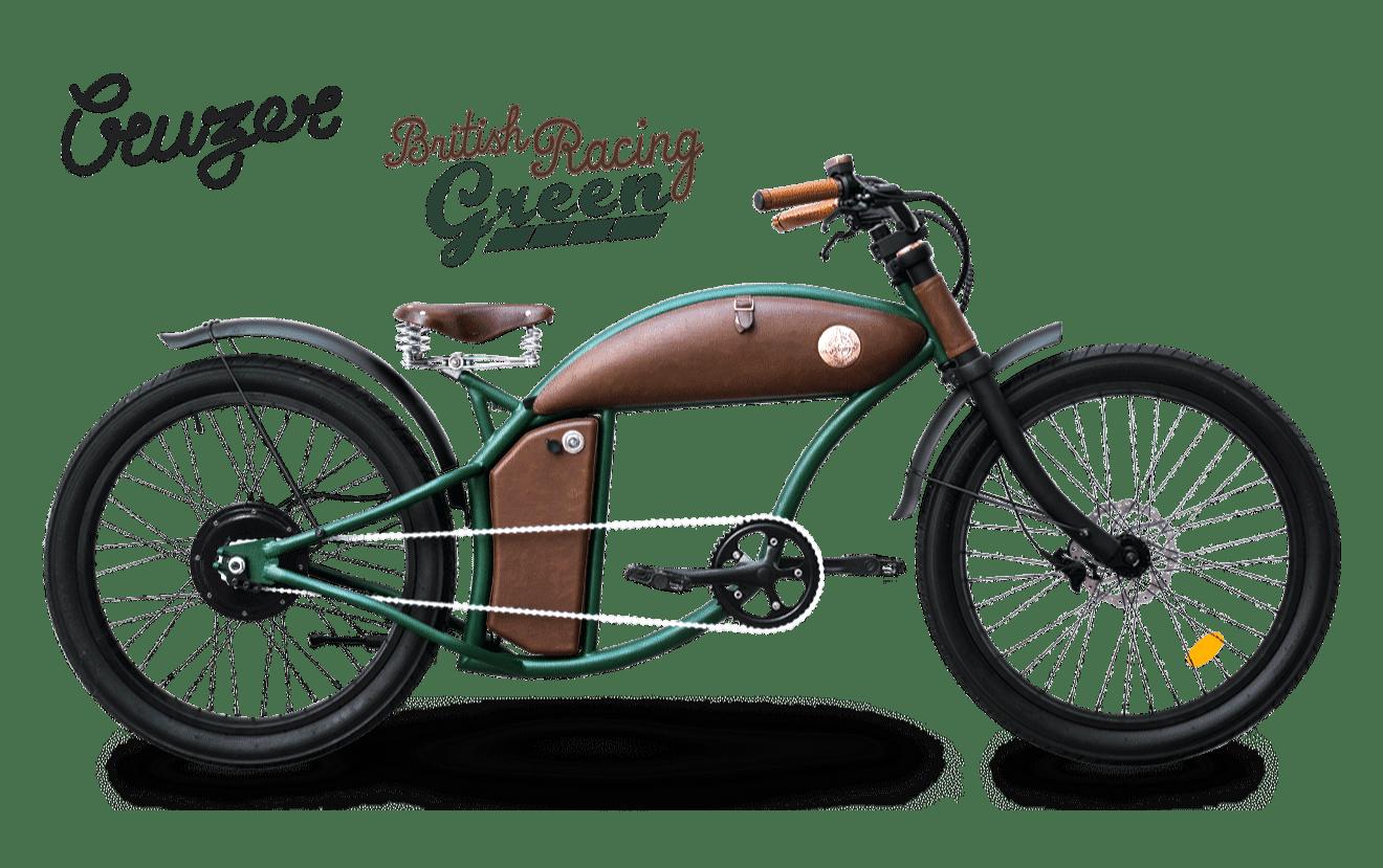 Fatbike Electrique Chopper 45km/h Speed Bike Rayvolt Cruzer Vert M 550Wh