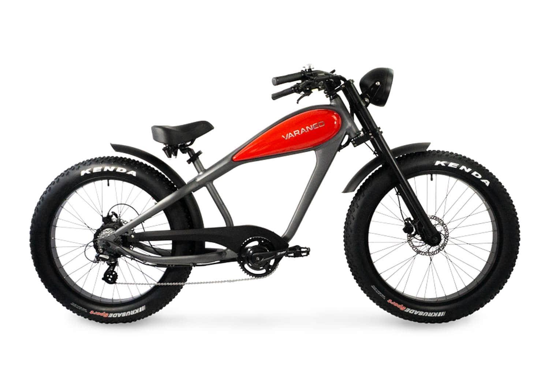 Velo Electrique Chopper Fat Bike Varaneo Cafe Racer Rouge