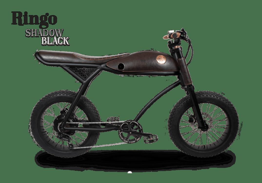 Rayvolt Retro Fat Bike Electrique Vintage 70s Ringo Noir 594Wh