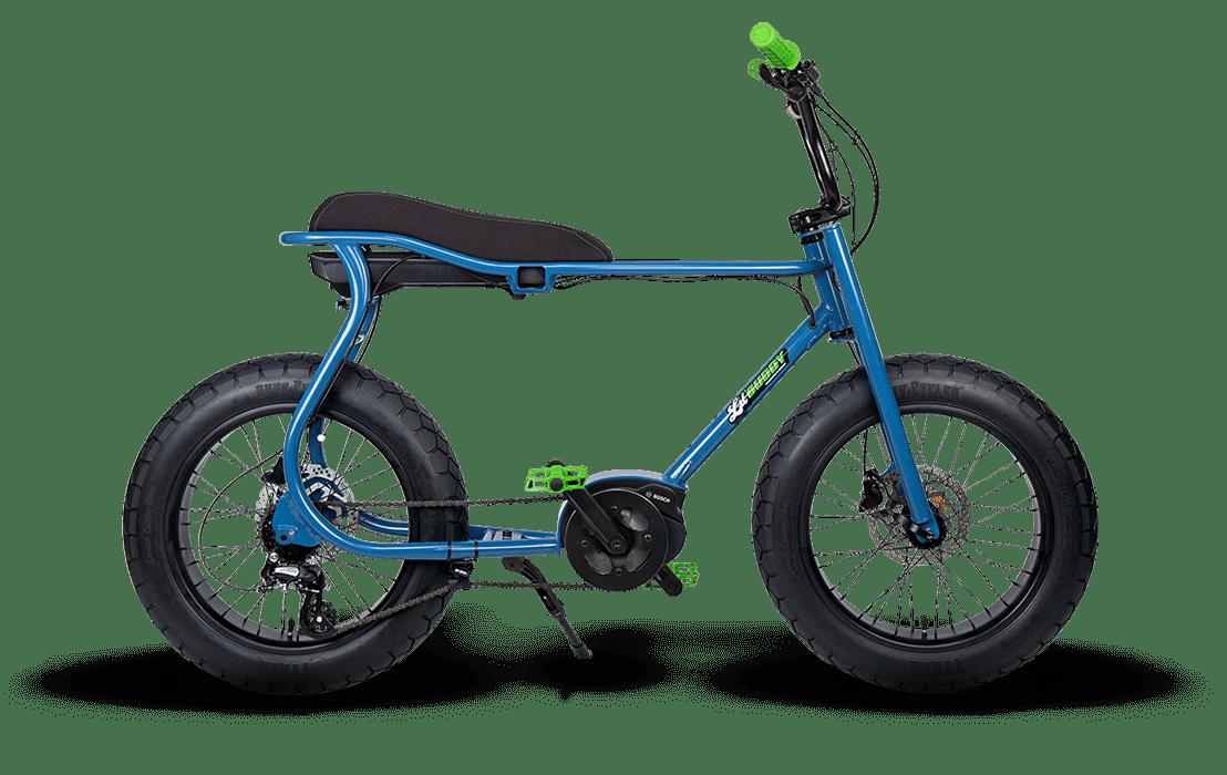 Ruff Cycles Retro Fat Bike Electrique Moteur Pedalier Bosch Lil'Buddy 300Wh CX Bleu