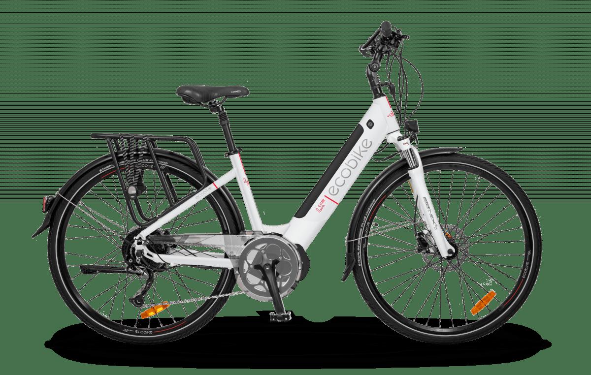 VTC Electrique Femme Speed Bike 45km/h Moteur Pedalier LX300 Blanc 500Wh