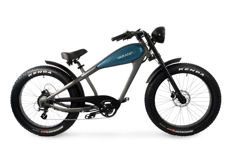 Velo Electrique Chopper Fat Bike Varaneo Cafe Racer Cyan