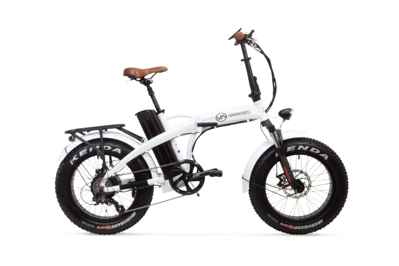 Velo Electrique Pliant Fat Bike Varaneo Dinky Sport Blanc