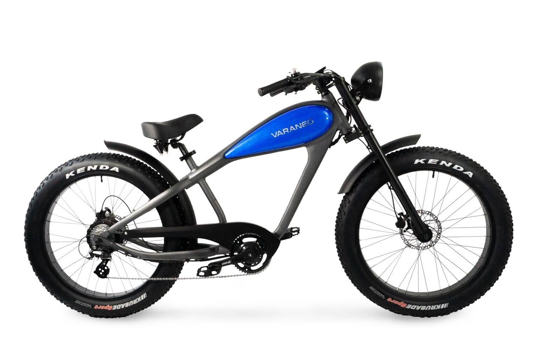 Velo Electrique Chopper Fat Bike Varaneo Cafe Racer Bleu