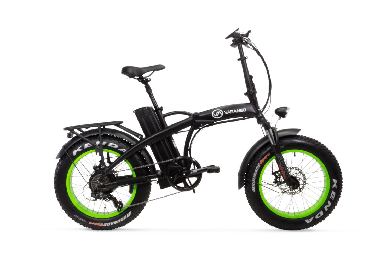 Velo Electrique Pliant Fat Bike Varaneo Dinky Sport Noir