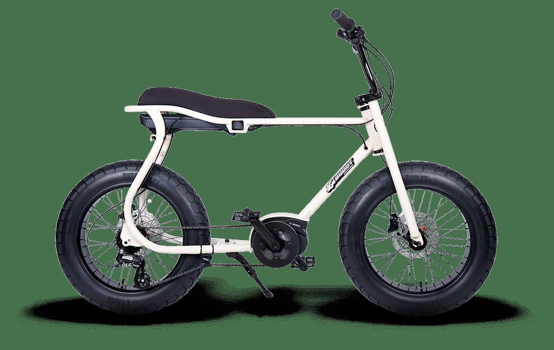 Ruff Cycles Retro Fat Bike Electrique Moteur Pedalier Bosch Lil'Buddy 500Wh Blanc