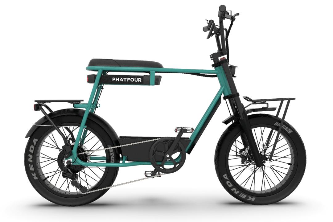 Retro Fat Bike Electrique Vintage 70s PHATFOUR FLB+ Vert 470Wh