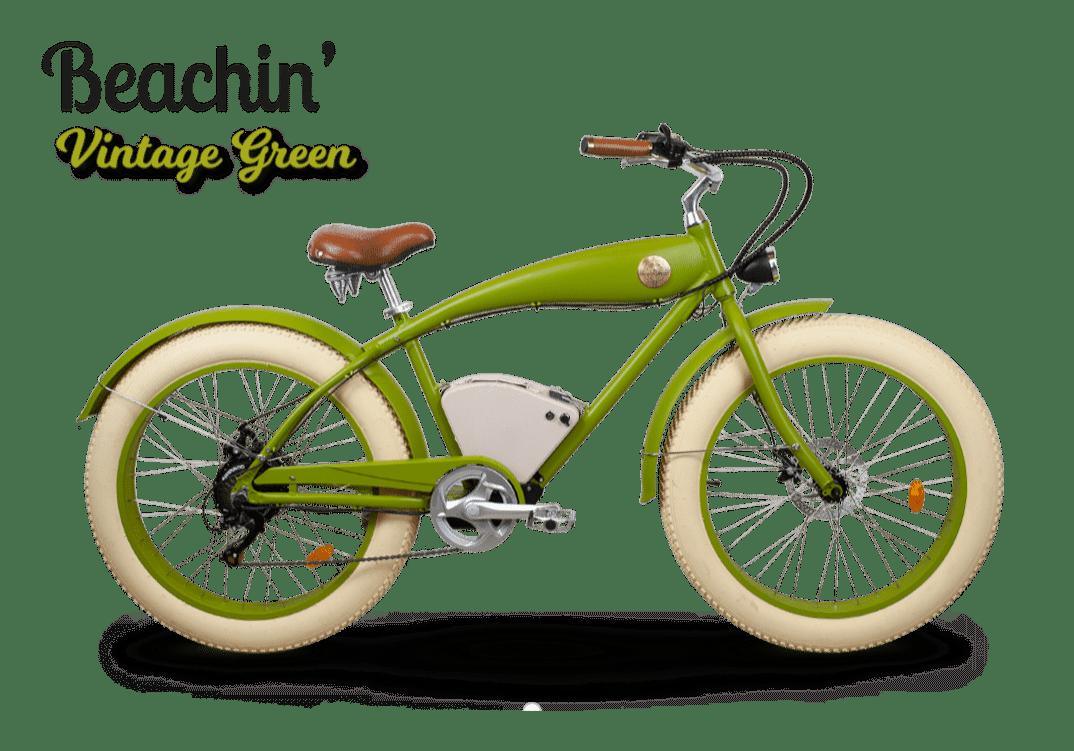 Fat Bike Electrique Rayvolt Beachin Bright vert Standard batterie