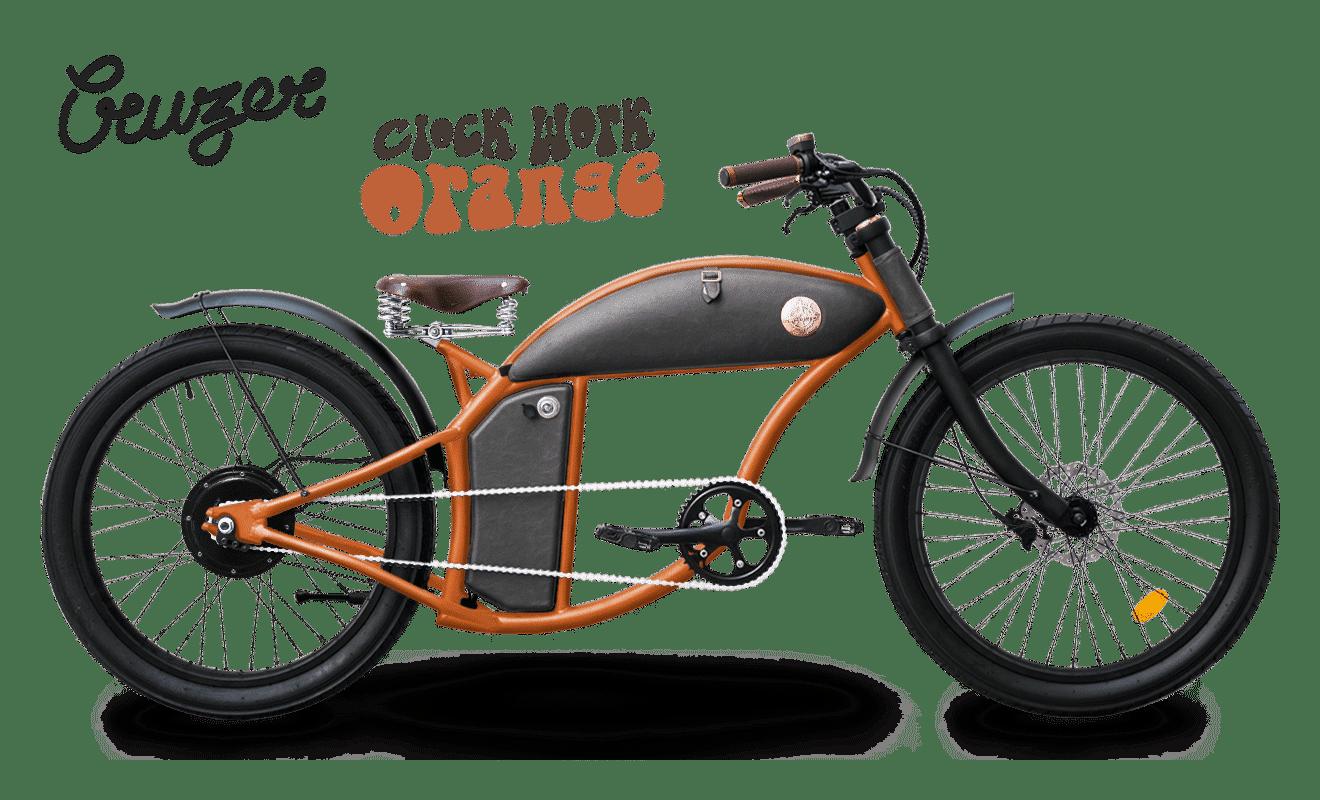 Fatbike Electrique Chopper 45km/h Speed Bike Rayvolt Cruzer Orange M 550Wh