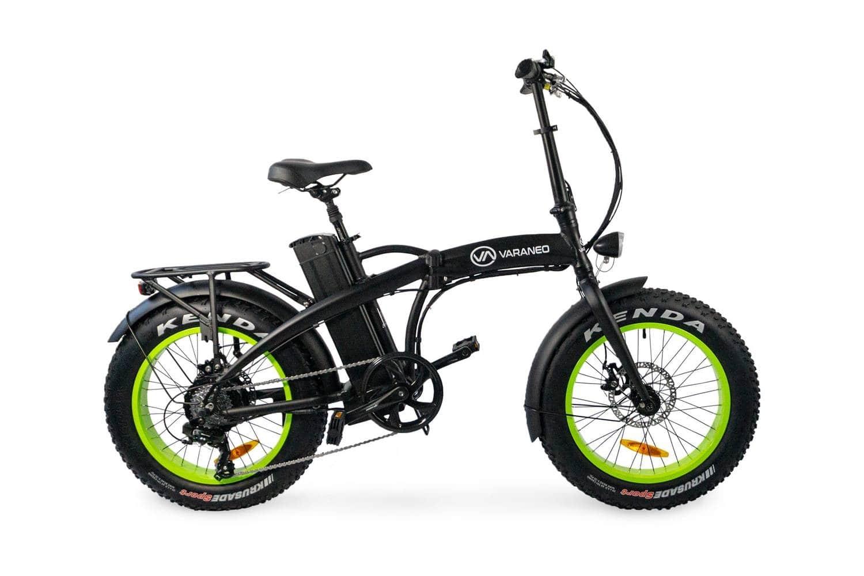 Velo Electrique Pliant Fat Bike Varaneo Dinky Noir