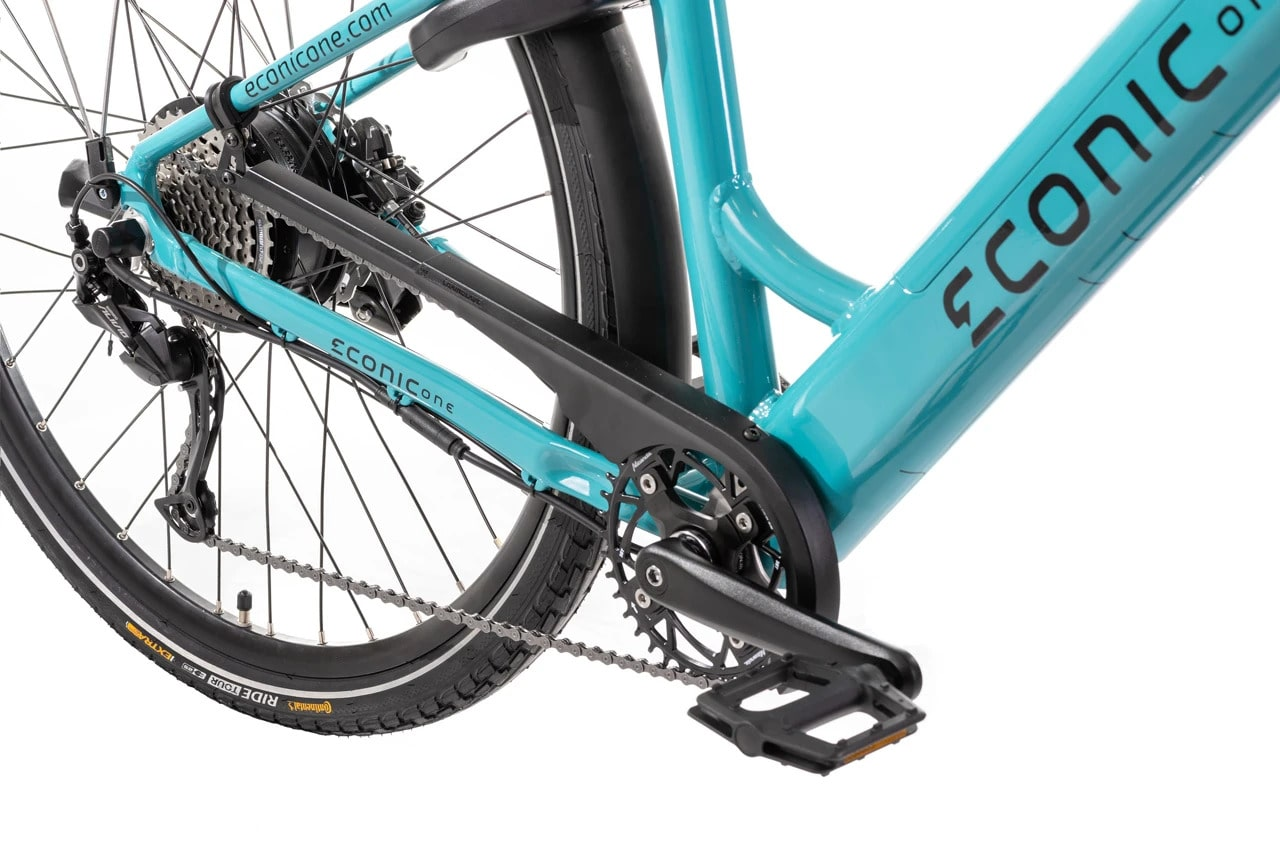 Velo Electrique Femme Econic One Smart Comfort M 44cm Turquoise
