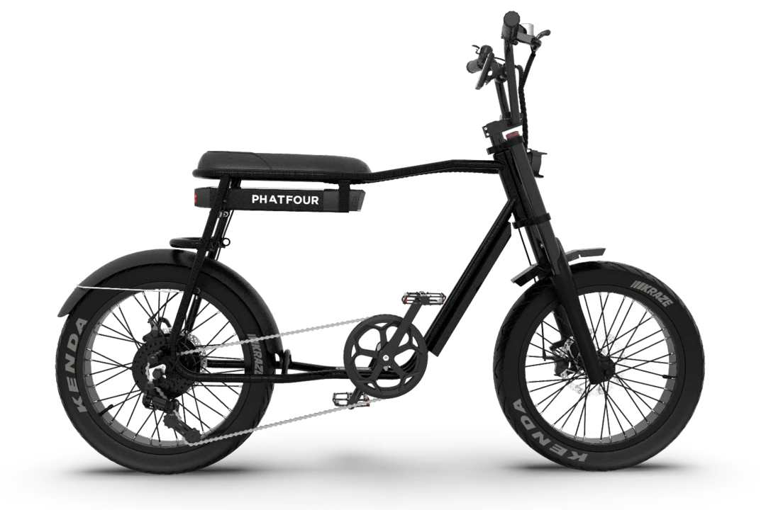 Retro Fat Bike Electrique Vintage 70s PHATFOUR FLS+ Noir 630Wh