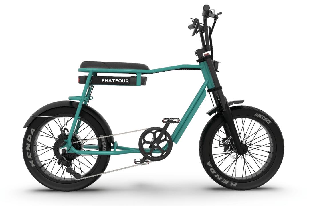 Retro Fat Bike Electrique Vintage 70s PHATFOUR FLS+ Vert 470Wh