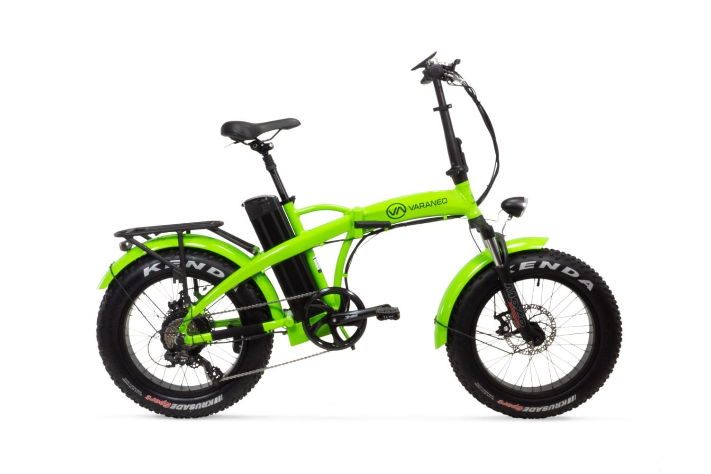 Velo Electrique Pliant Fat Bike Varaneo Dinky Sport Vert Clair
