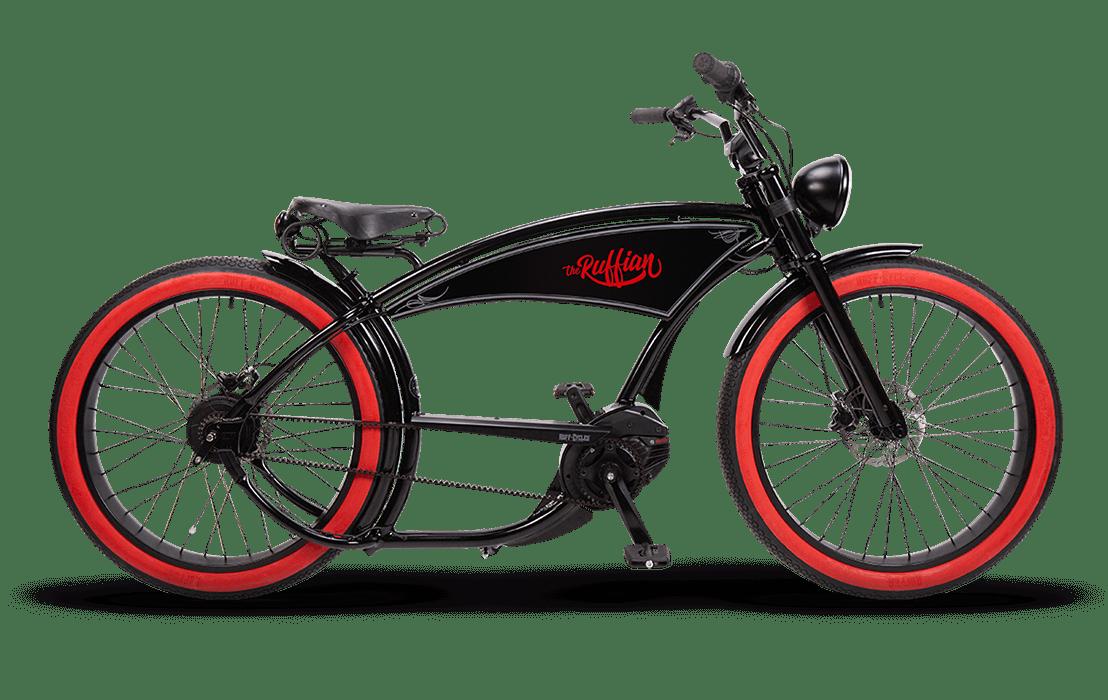 Ruff Cycles Ruffian Velo Electrique Chopper a Courroie Moteur Pedalier 500Wh Noir