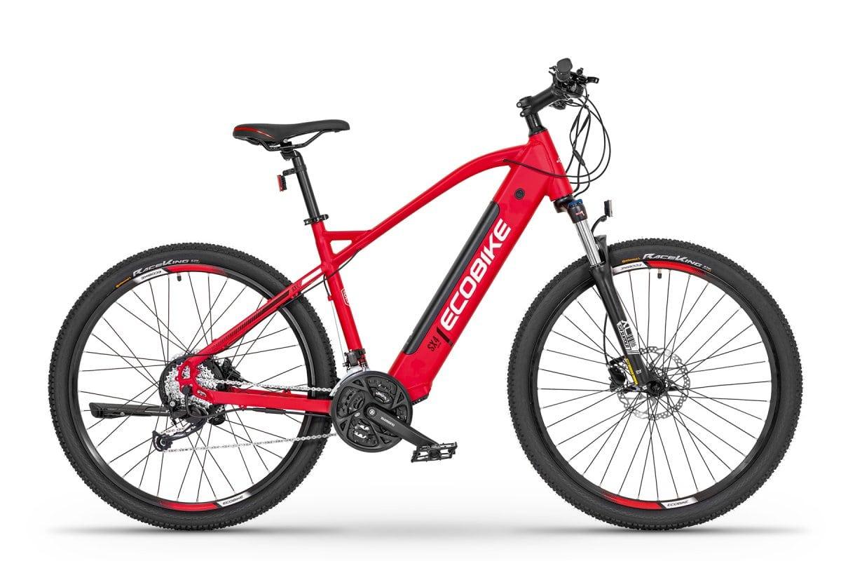 """VTC Electrique Homme Ecobike SX4 Rouge 19"""" 468Wh"""