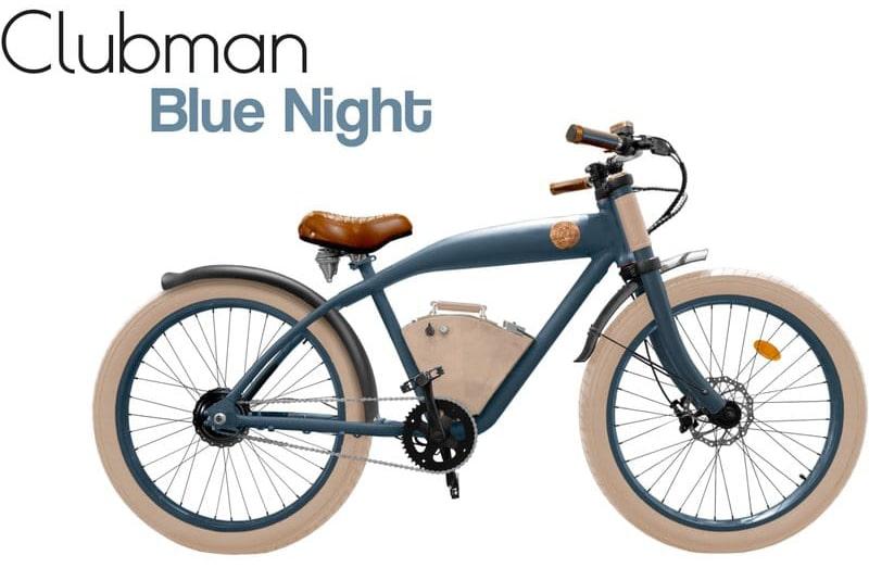 Rayvolt E Bike Cruiser Clubman bleu Standard batterie
