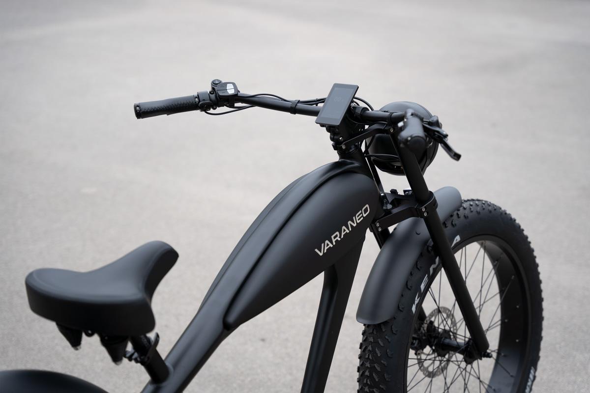 Velo Electrique Chopper Fat Bike Varaneo Cafe Racer Noir