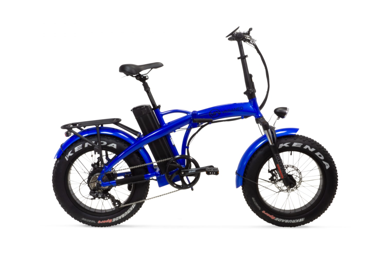 Velo Electrique Pliant Fat Bike Varaneo Dinky Sport Bleu